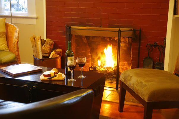 Get cozy by the fire!